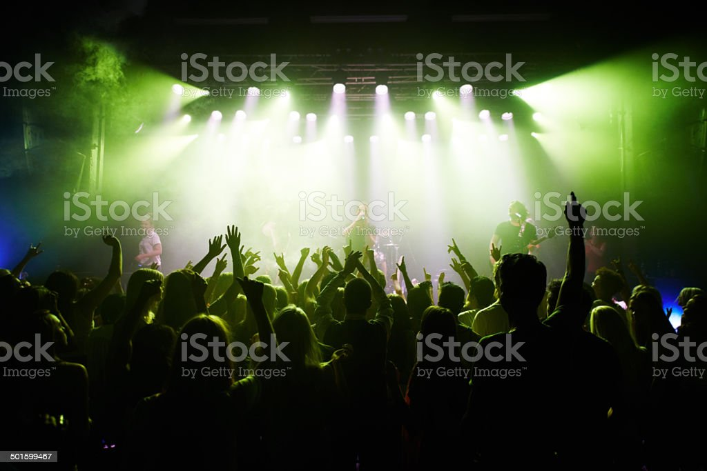 This concert is rockin' stock photo