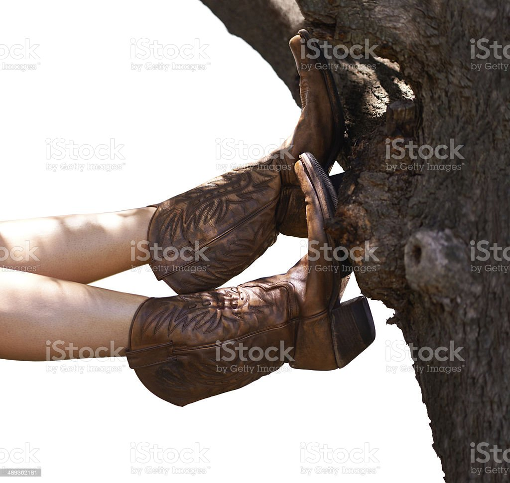 This cowboy's taking a break royalty-free stock photo