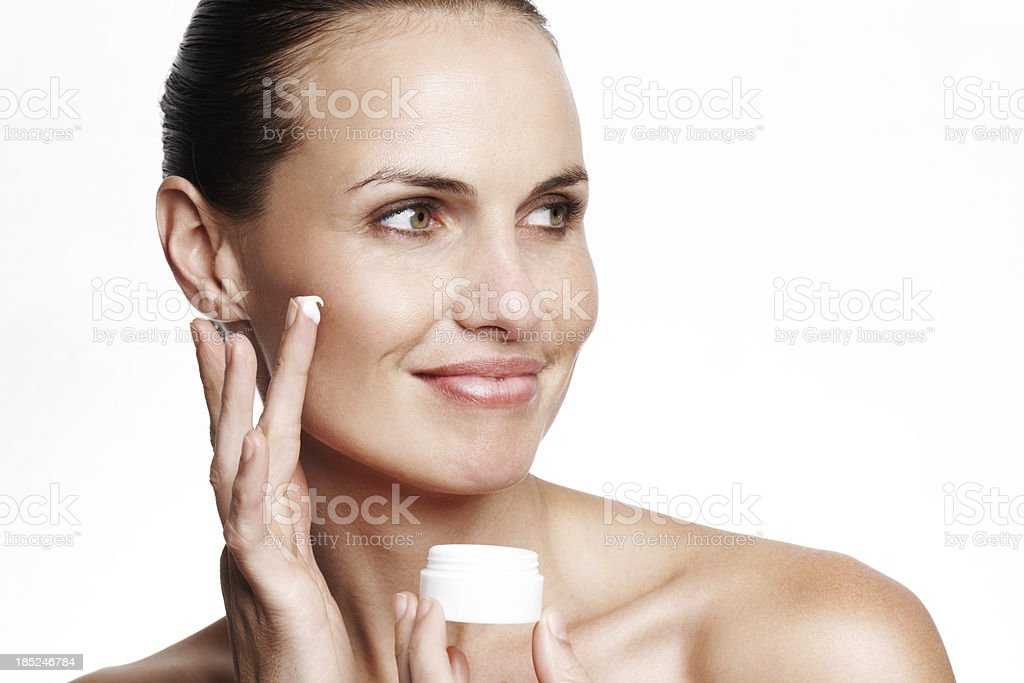 This cream will make you look and feel younger royalty-free stock photo