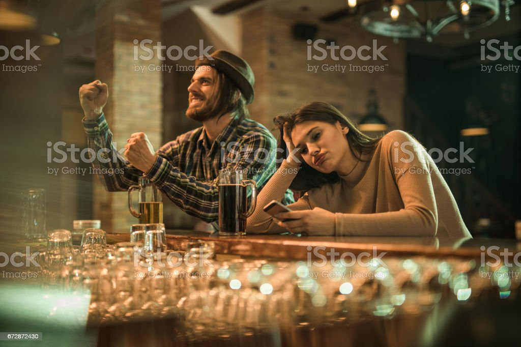 This date is so boring! stock photo