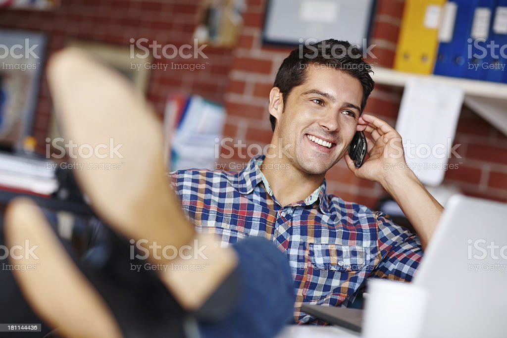 This day's going his way! royalty-free stock photo