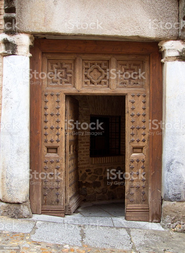 This door needs an inclinometer royalty-free stock photo