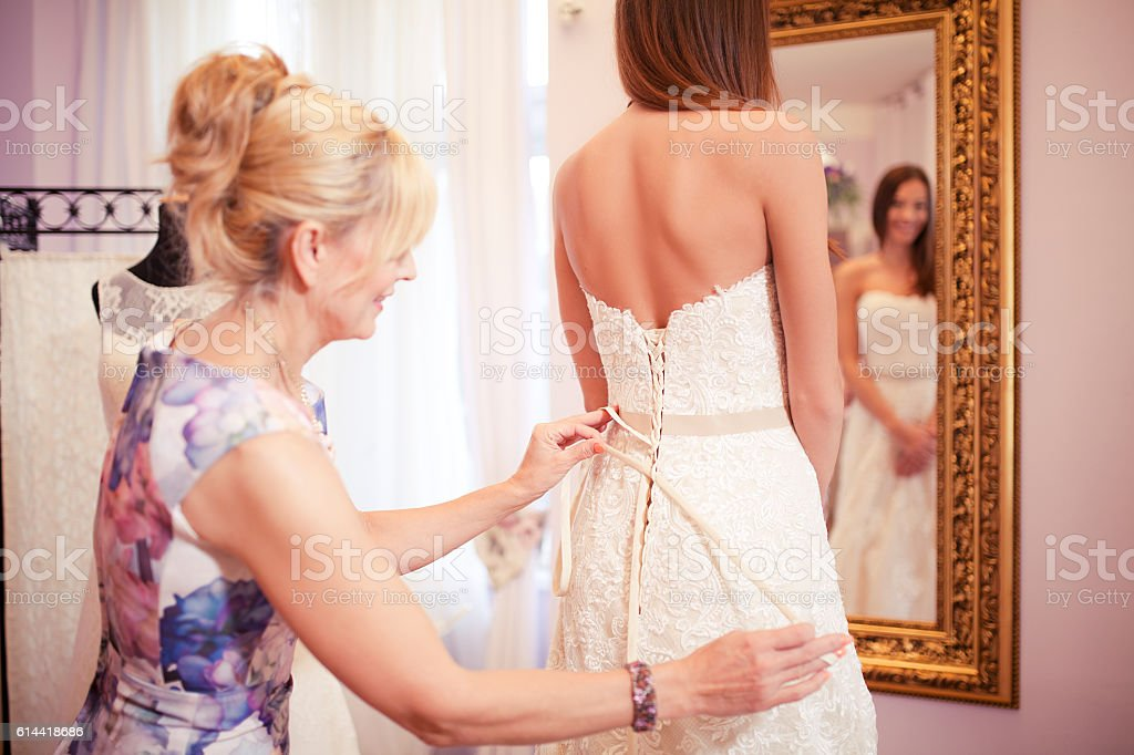 This dress is perfect for you stock photo