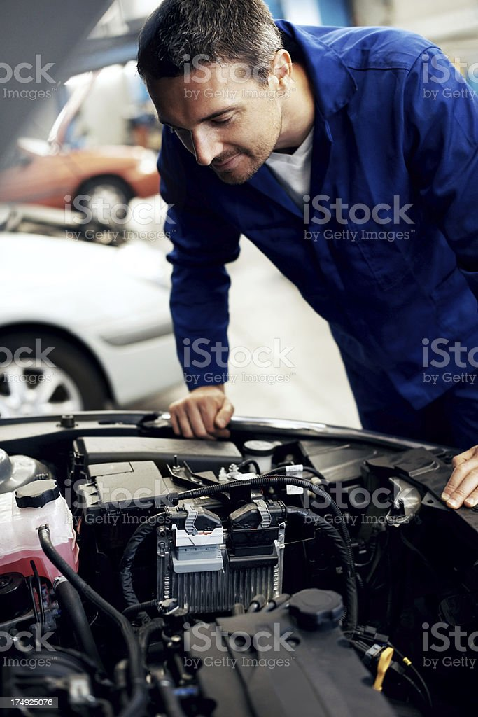 This engine needs an overhaul royalty-free stock photo