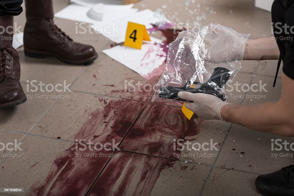 This evidence will lead us to a killer stock photo