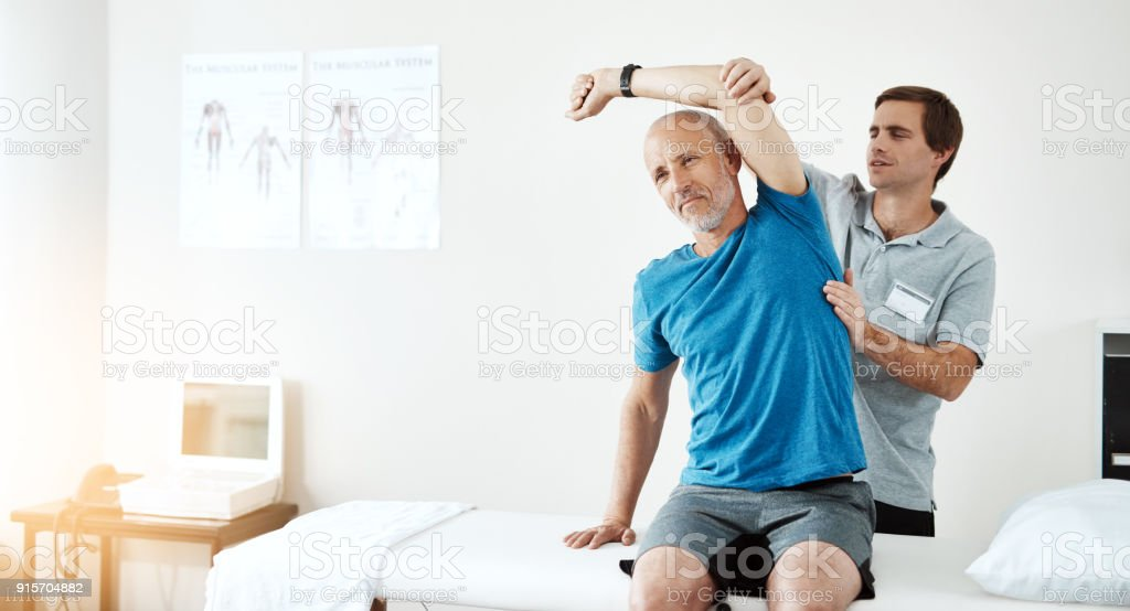 This exercise works wonders stock photo