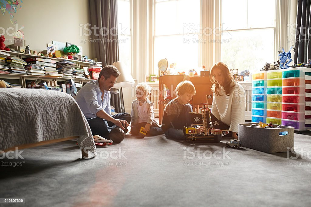 This family loves their together time stock photo