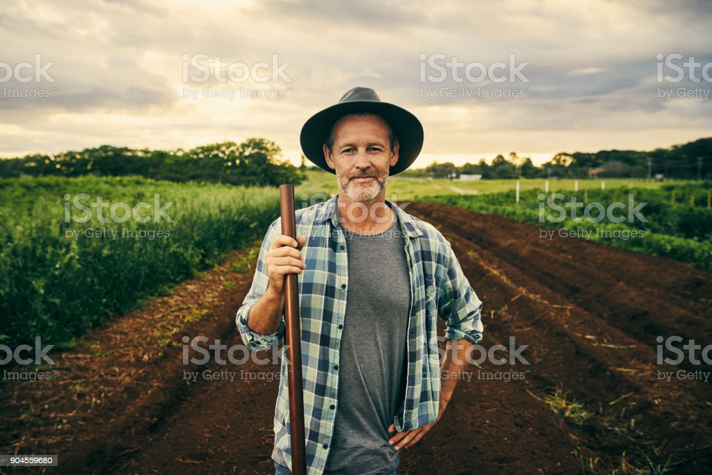 This farm is my pride and joy stock photo
