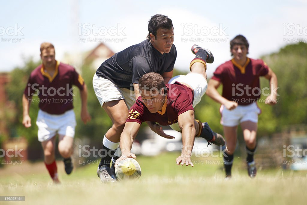 This game is not for the faint hearted stock photo