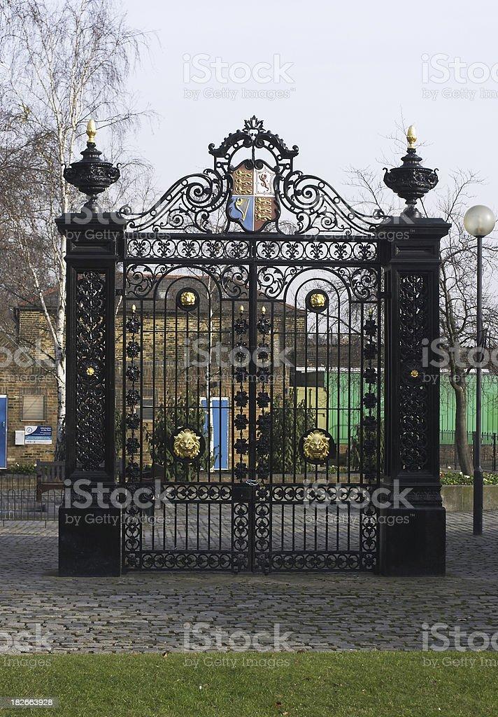 Victorian Cremorne Gate Chelsea stock photo