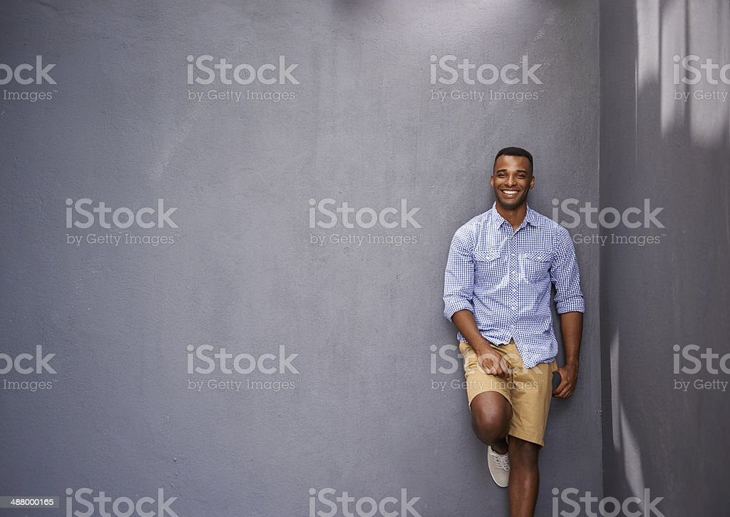 This guy just knows what's hip and happening stock photo