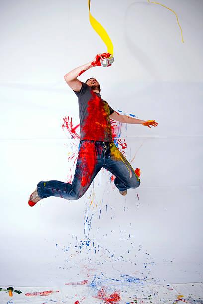 Crazy pintor - foto de stock