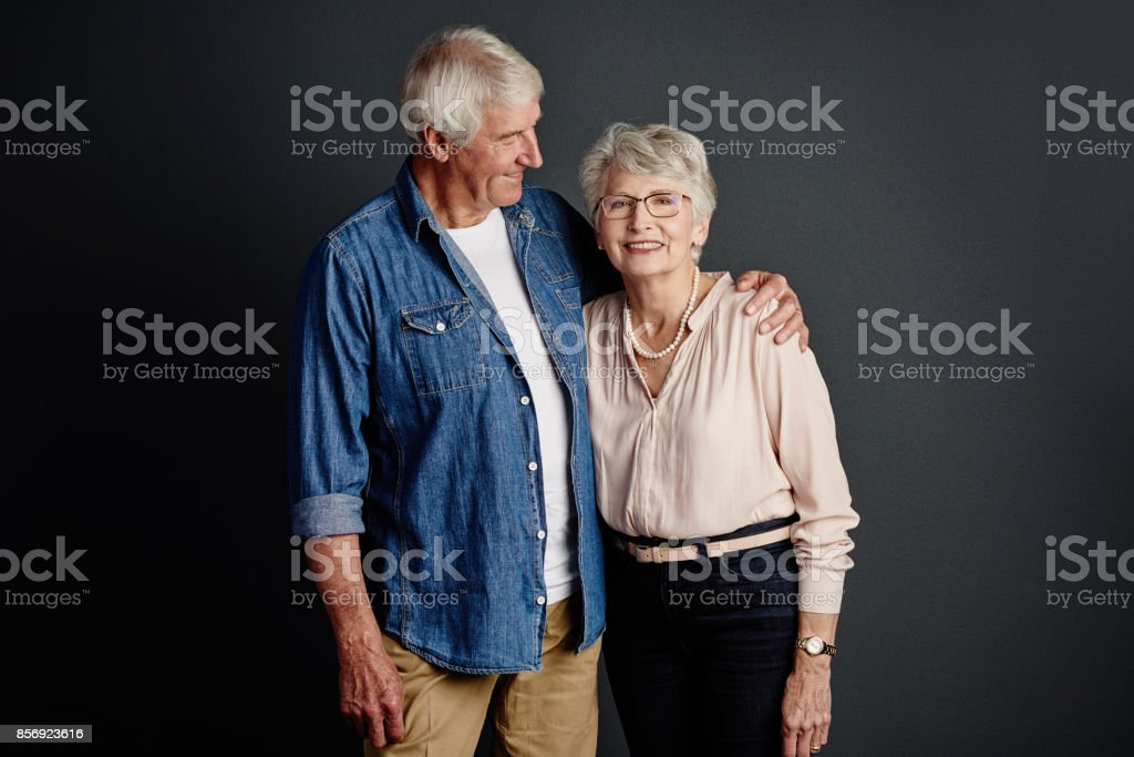 This happiness has lasted a lifetime stock photo