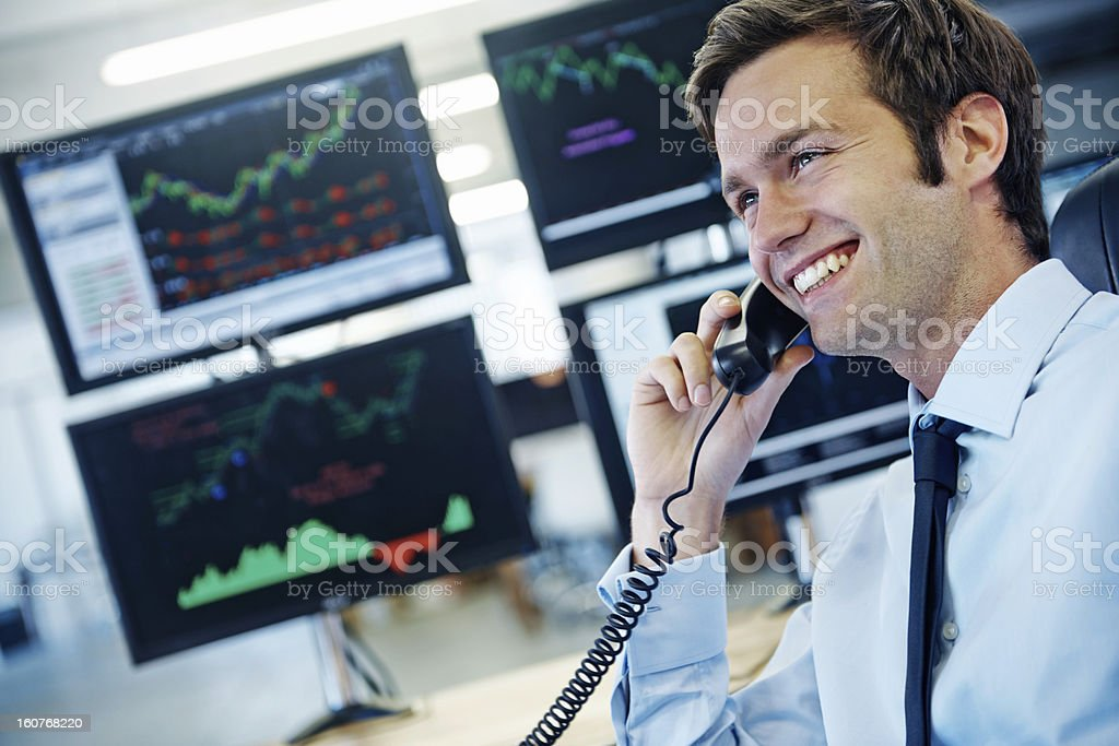 Esta ha sido una buena financial quarter. - foto de stock