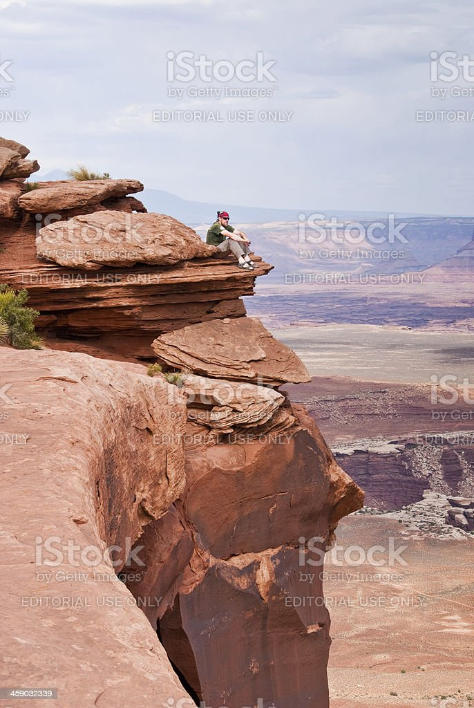 Living Life on the Edge royalty-free stock photo