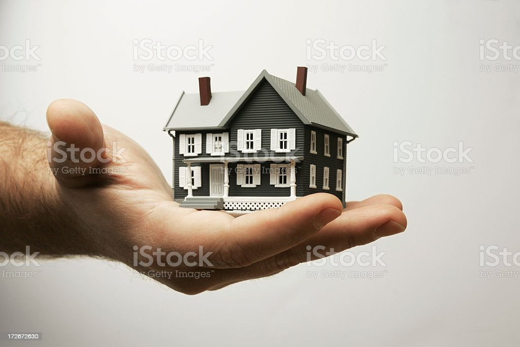 This home is in your hand royalty-free stock photo