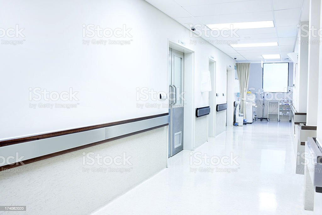 This hospital you can feel secure in stock photo