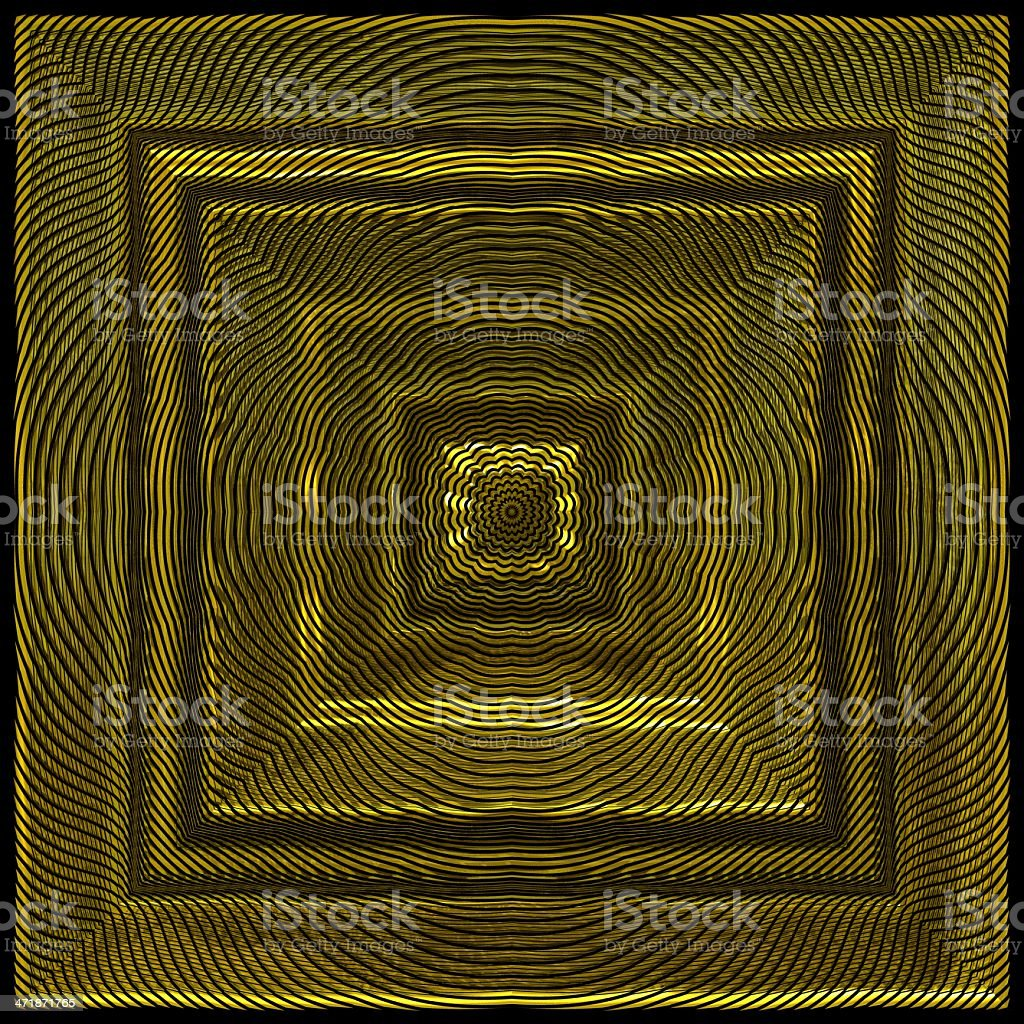 Square brass panel decoration 3D render royalty-free stock photo