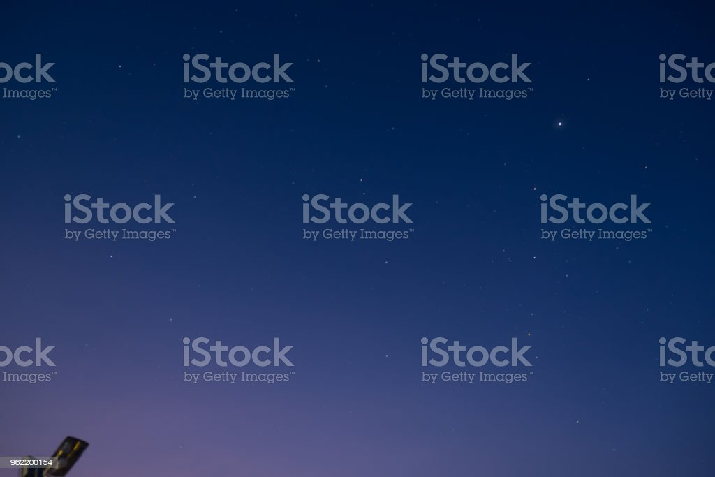 This is a beautiful sky with star, A few star stock photo