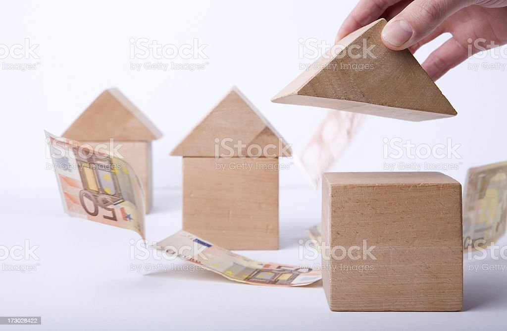 This is a conceptual idea for building houses. royalty-free stock photo