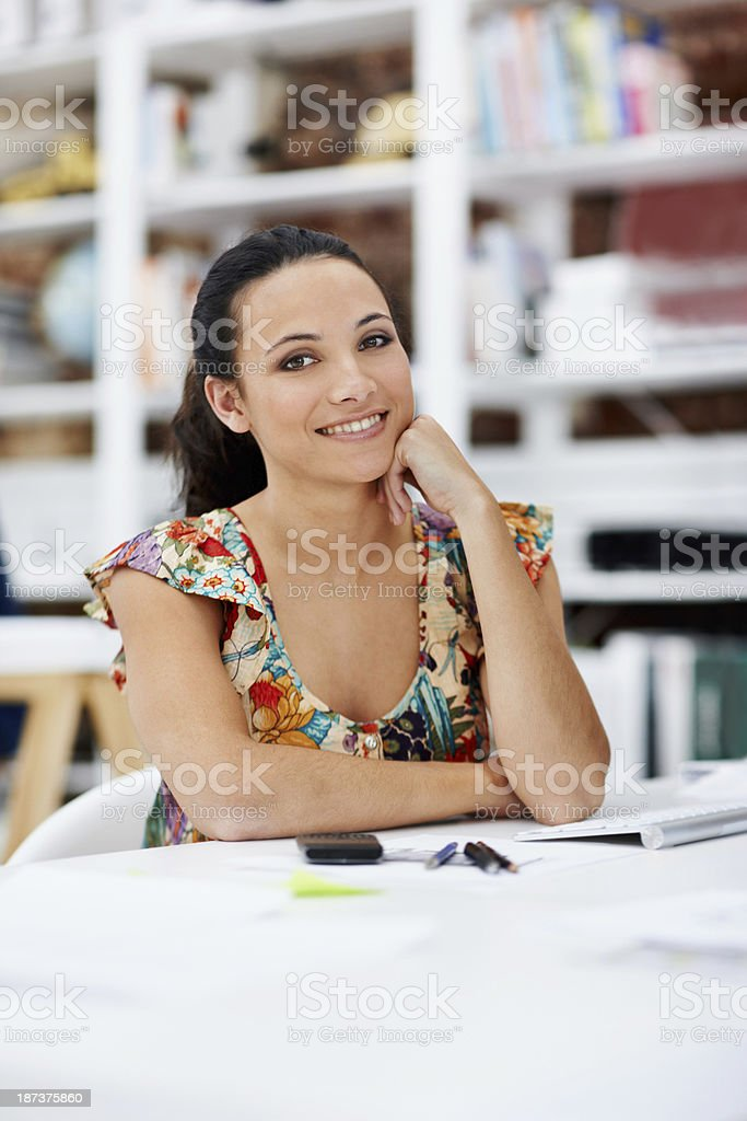 This is a great work environment royalty-free stock photo