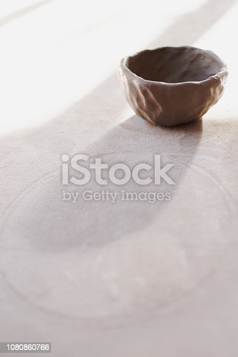 Still life shot of a clay pot