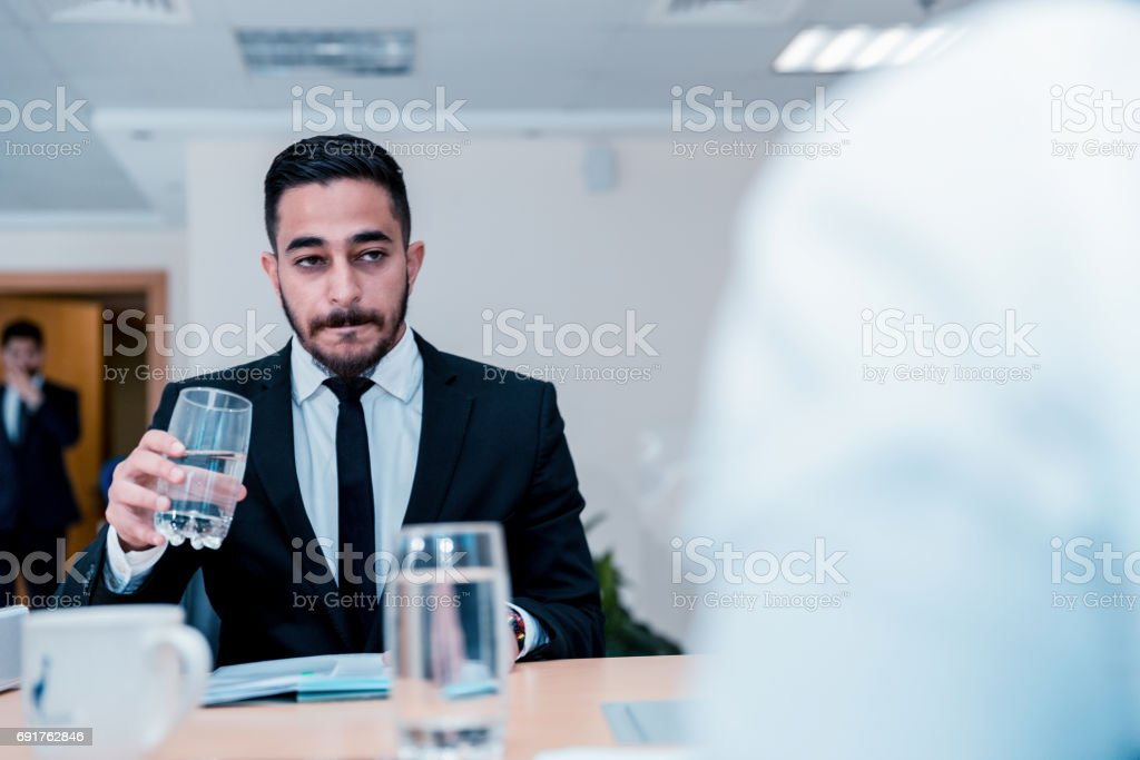 This is a very important and stressful interview stock photo