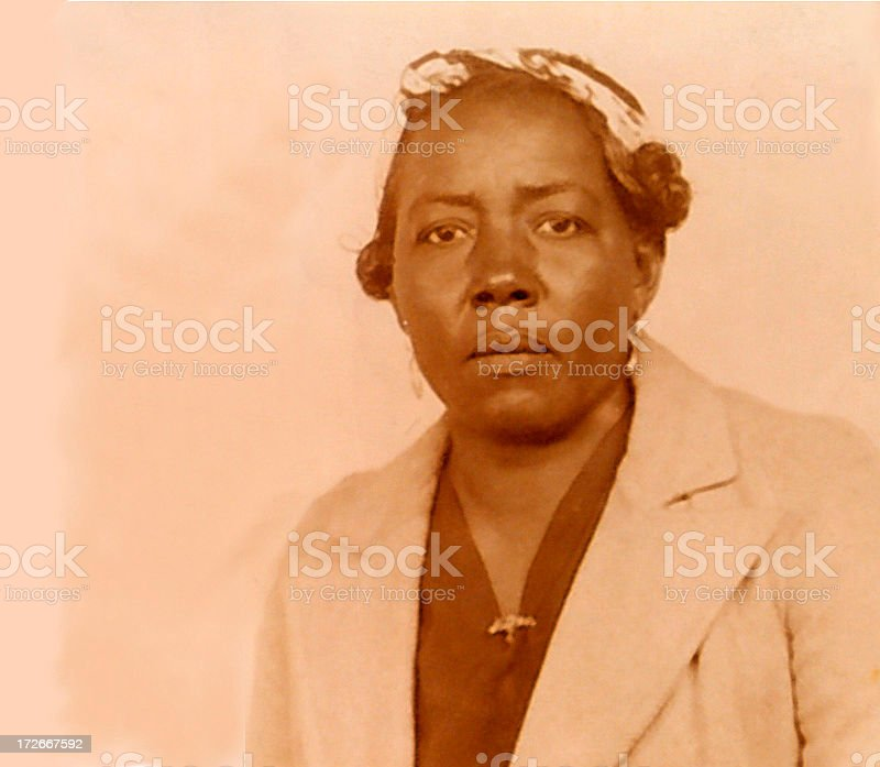 vintage photo of my great grandmother stock photo