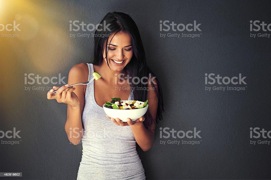 Es delicioso. - foto de stock