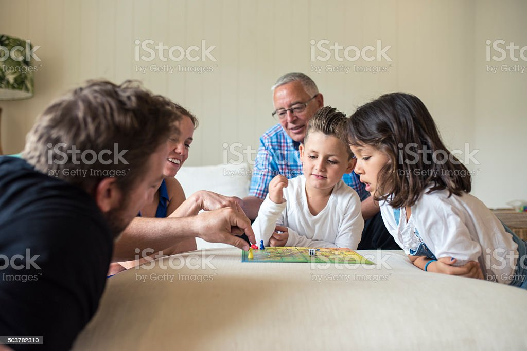 This is great family game! stock photo