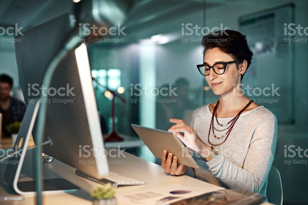 This is helping me complete my task stock photo