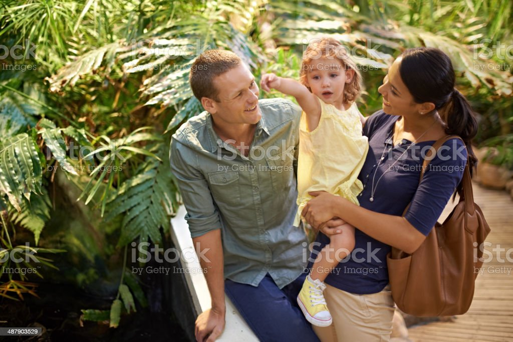 This is her idea of extreme fun! stock photo