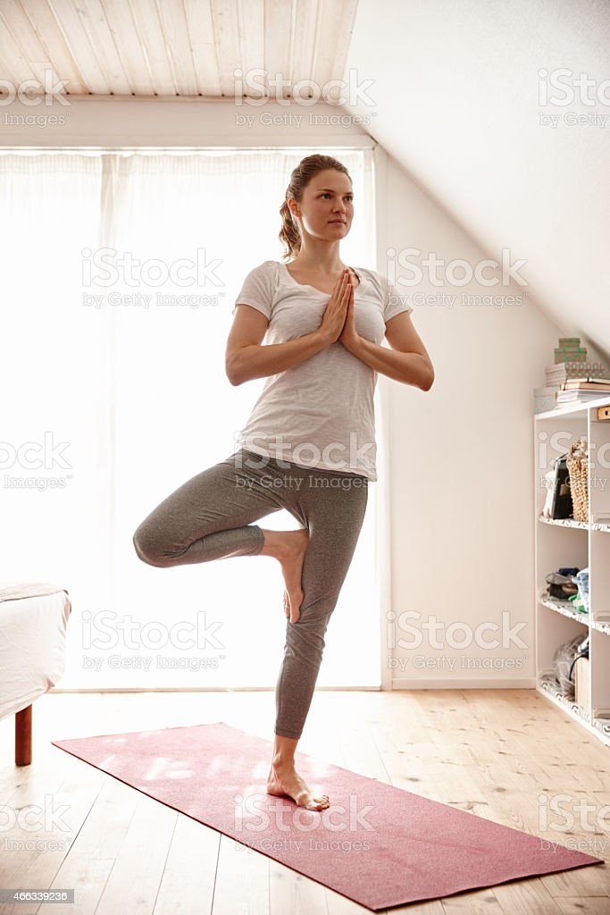 This is her time to unwind stock photo