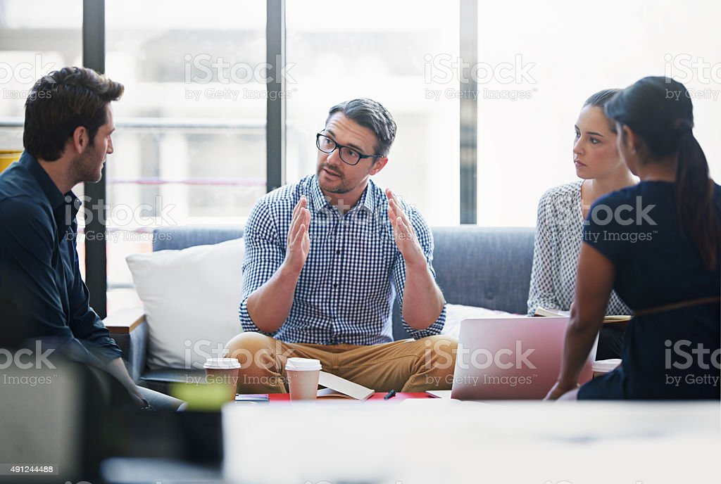 This is how I see it... stock photo