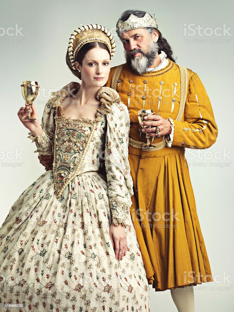 This is how we royals roll! stock photo