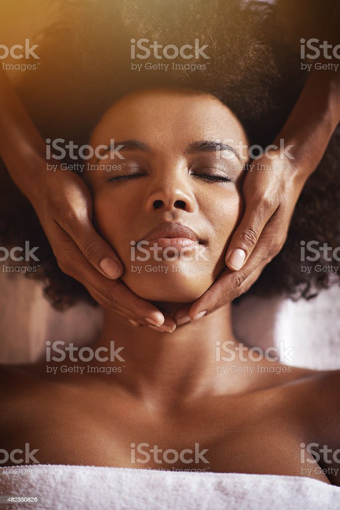 This is just what she needed… stock photo