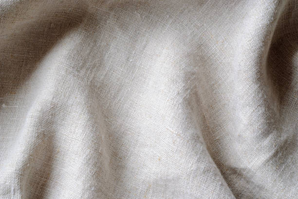 This is linen fabric. stock photo