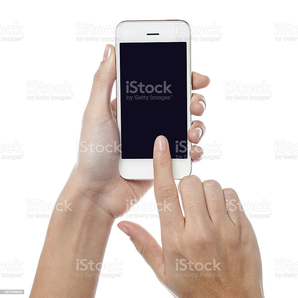 This is my brand new cell phone stock photo