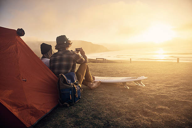 this is my kinda date! - camping stock photos and pictures