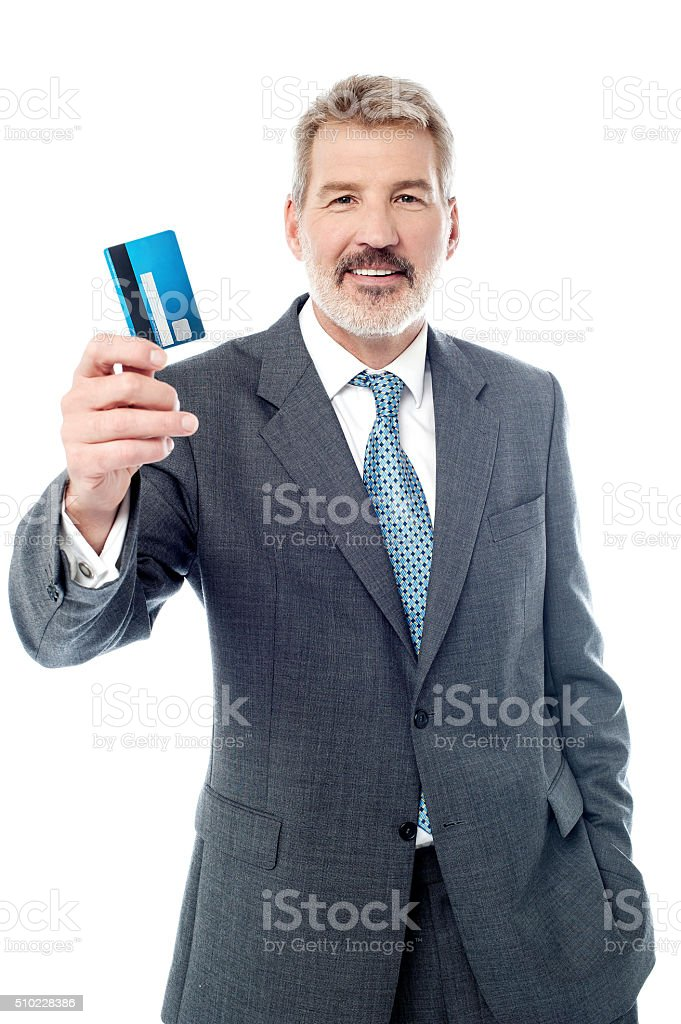This is my new cash card! stock photo