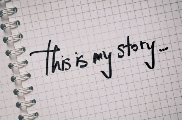 This Is My Story stock photo