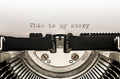 This is my story typed on a vintage typewriter