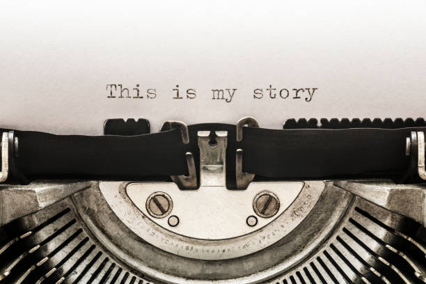This is my story typed on a vintage typewriter stock photo