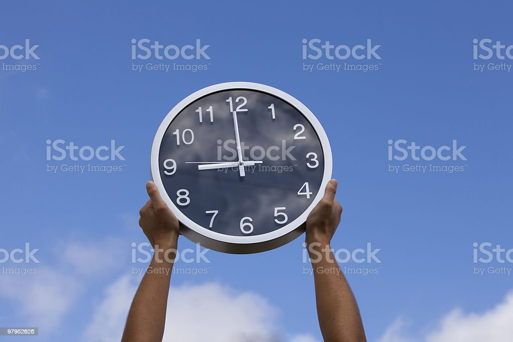 This is my time royalty-free stock photo
