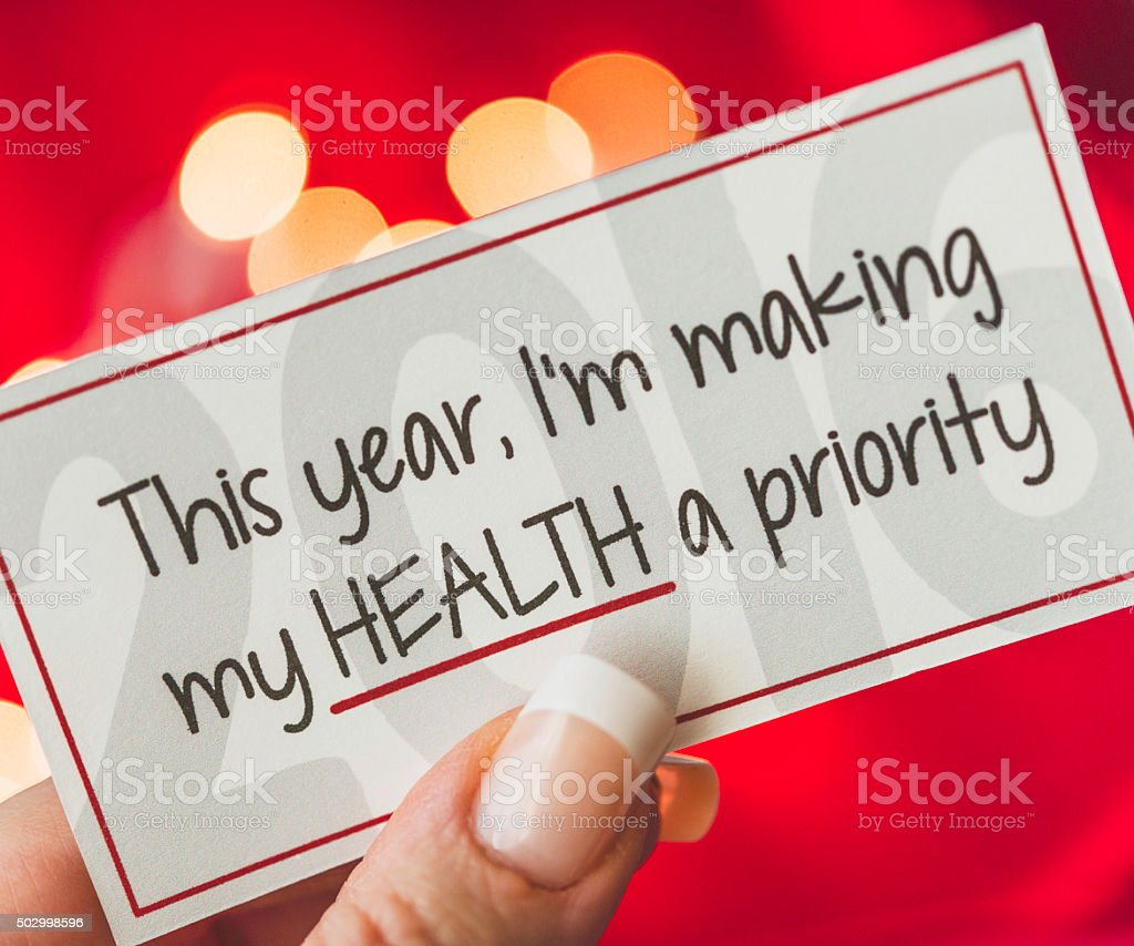 This is my year for making my health a priority stock photo