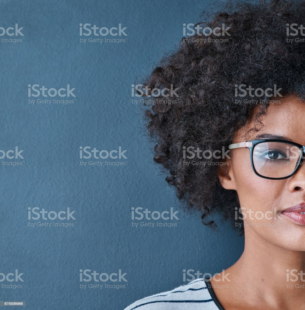 This is only half of who I am stock photo