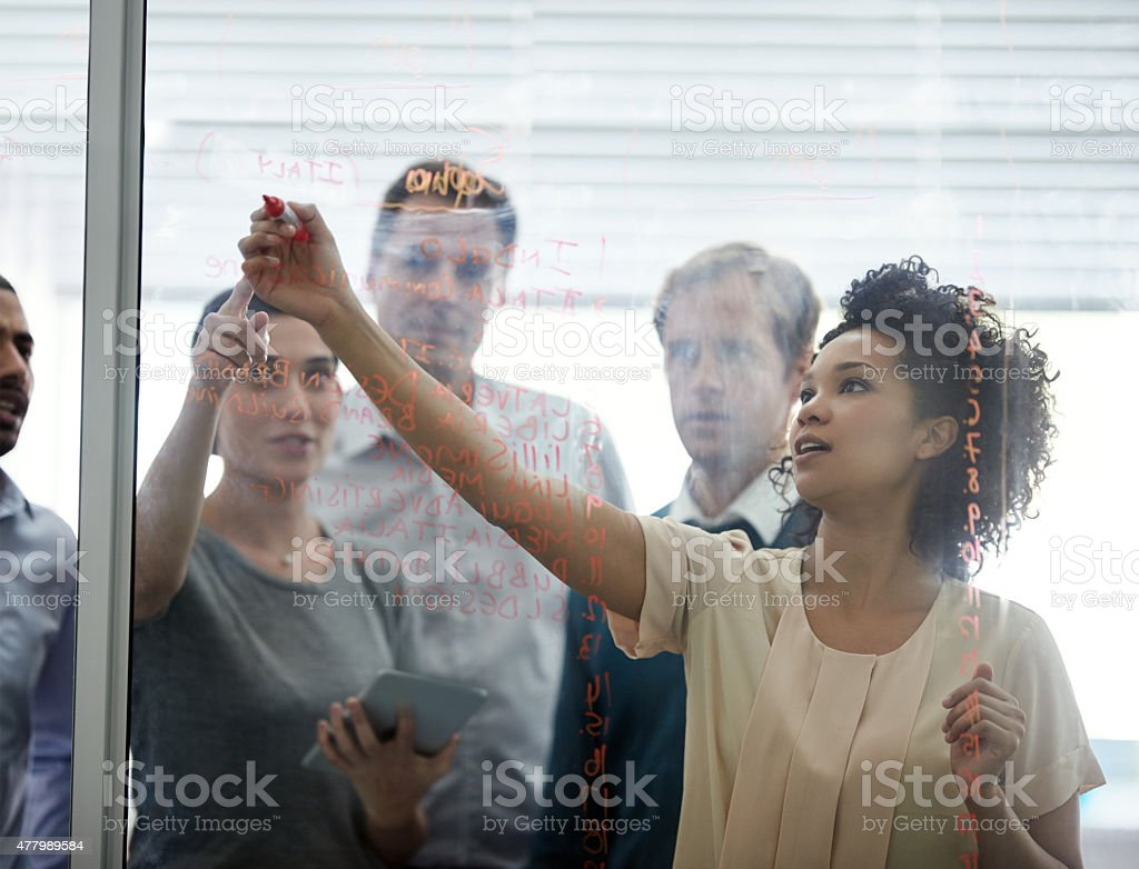 This is our 'map' to success stock photo