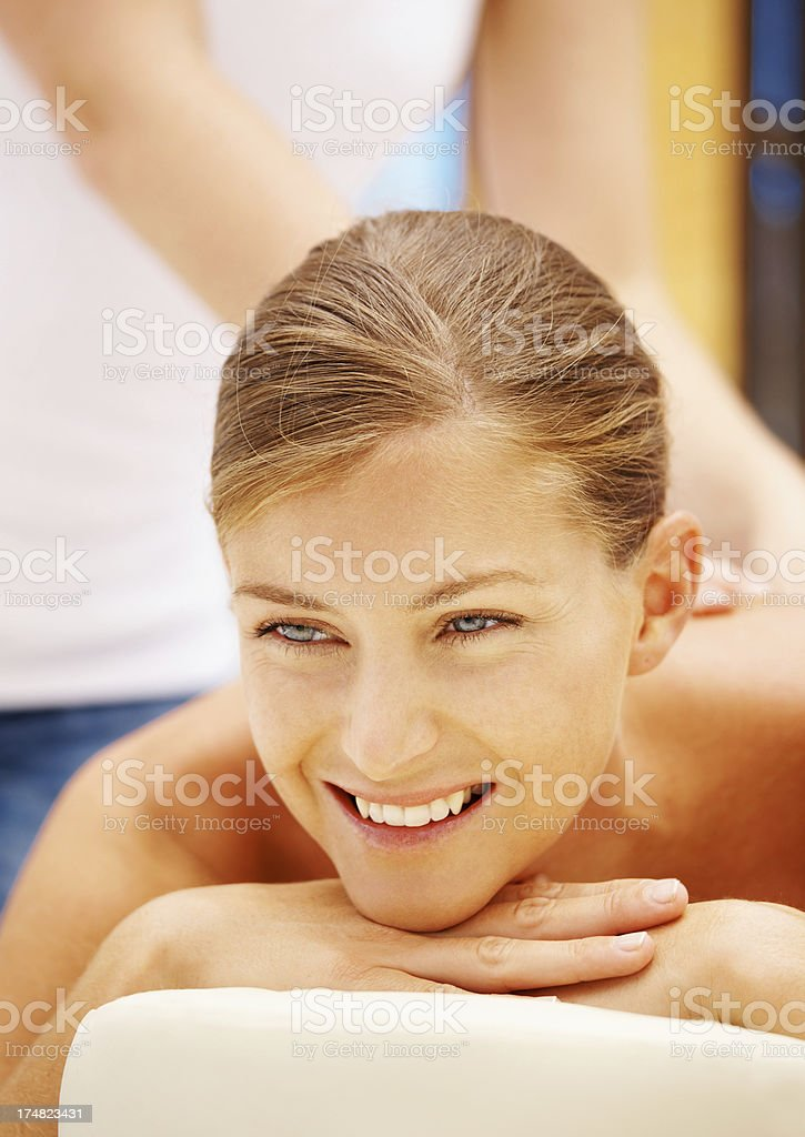 This is pure bliss royalty-free stock photo