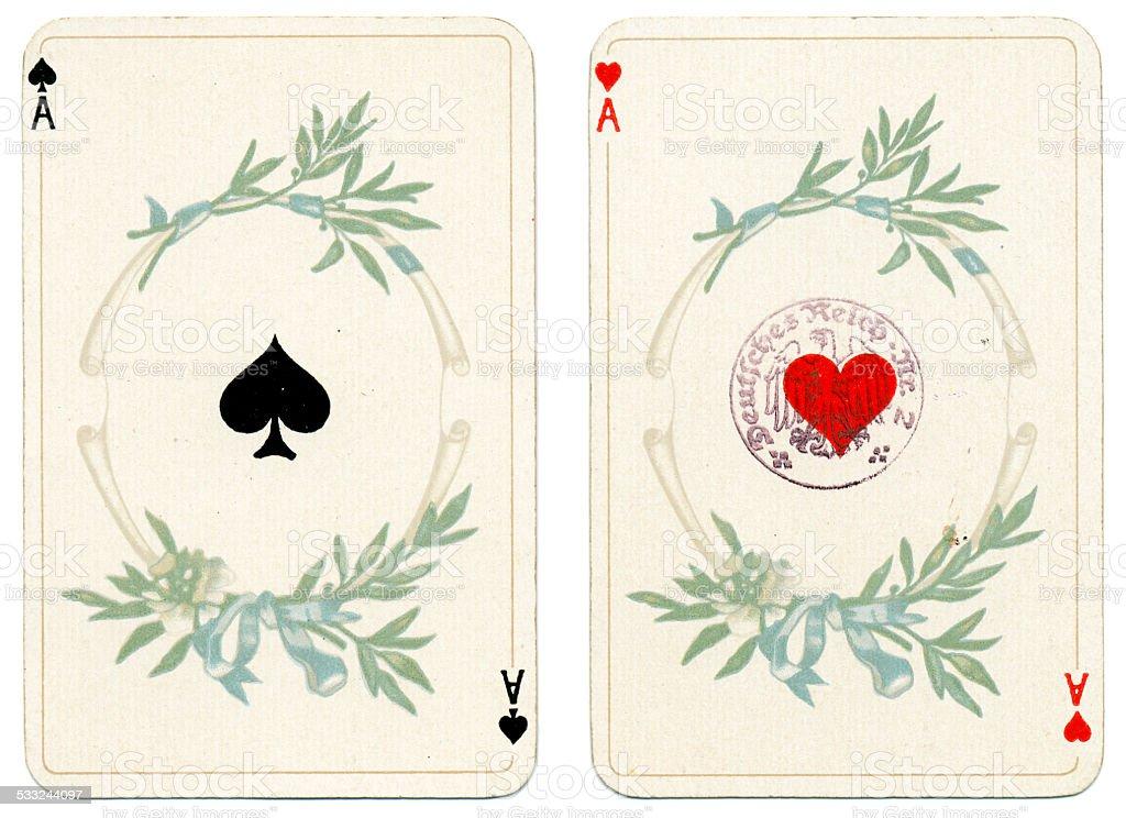 As de coeur et pique Dondorf Baronesse piquet 1900 - Photo