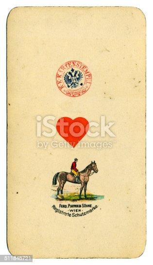 AS de corazones carta Tarot Tarock austríaco 1900